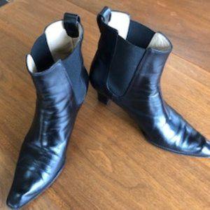 Michael Kors Black Side Gor Ankle Boots 9 1/2